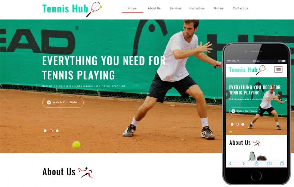 Tennis Hub Sports Category Flat Bootstrap Responsive Web Template