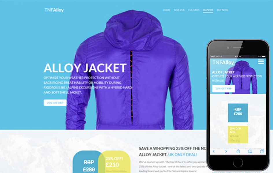 Tnf Alloy a Flat E-commerce Bootstrap Responsive Web Template