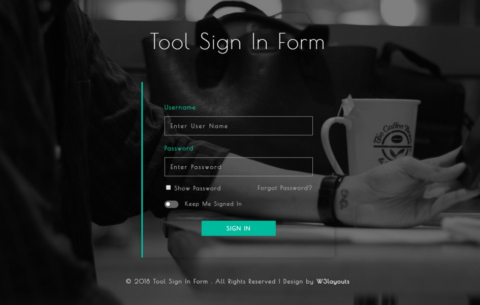 Tool Sign in Form Flat Responsive Widget Template