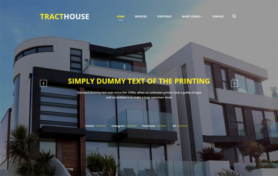 Tract House a Real Estates Category Bootstrap Responsive Web Template