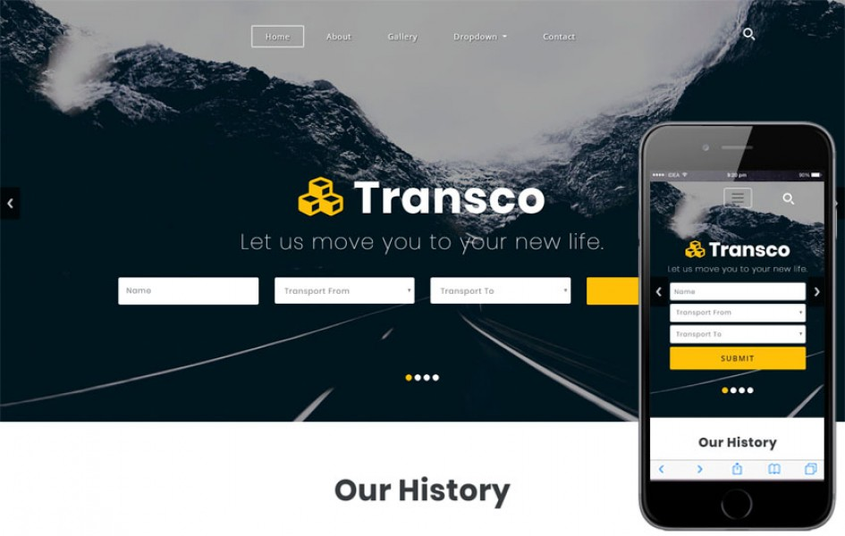 Transco a Transportation Category Bootstrap Responsive Web Template