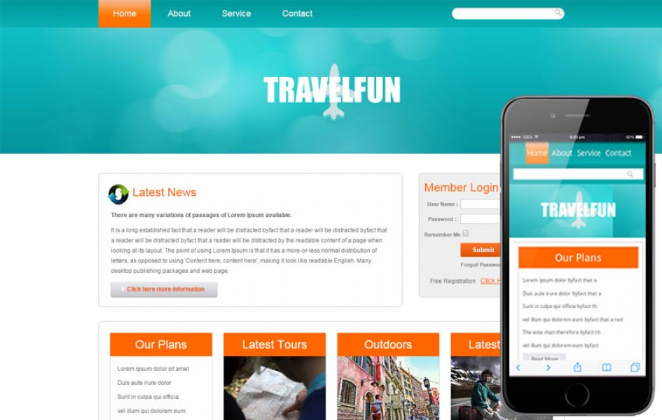 Travel Fun Web and Mobile Template