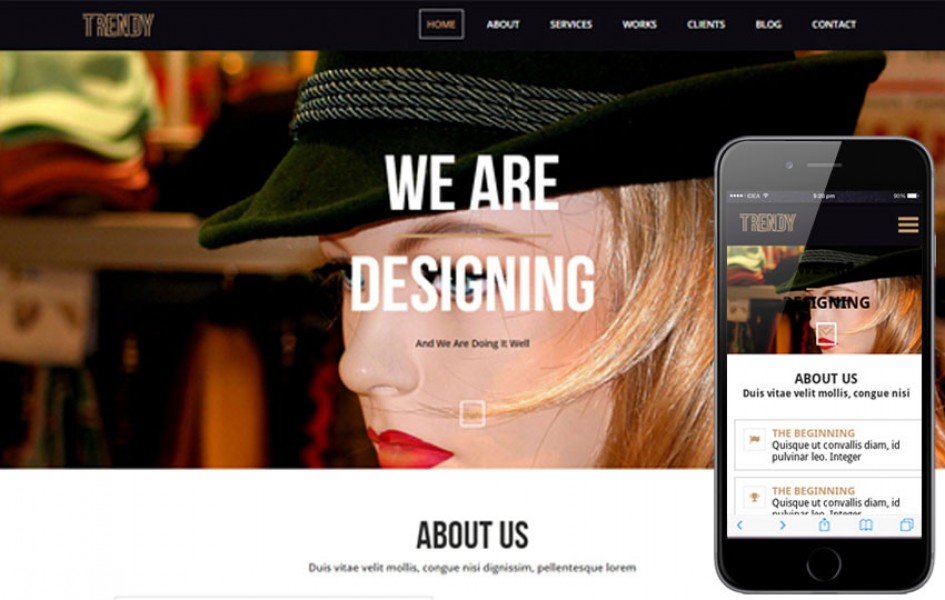 Trendy a One Page Multi Purpose Flat Bootstrap Responsive Web Template