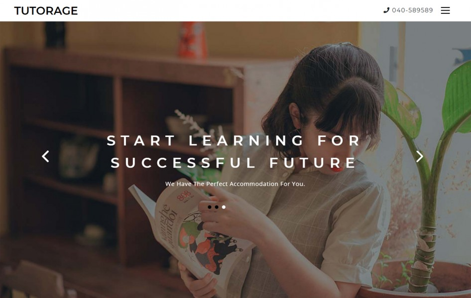 Tutorage an Education Category Bootstrap Responsive Web Template