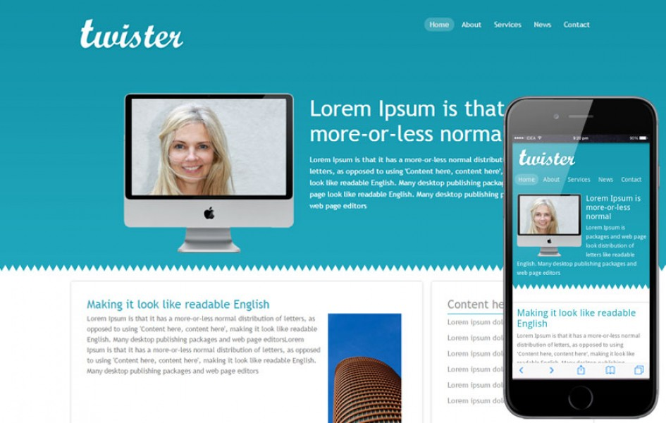 Twister Corporate Website and Mobile Template