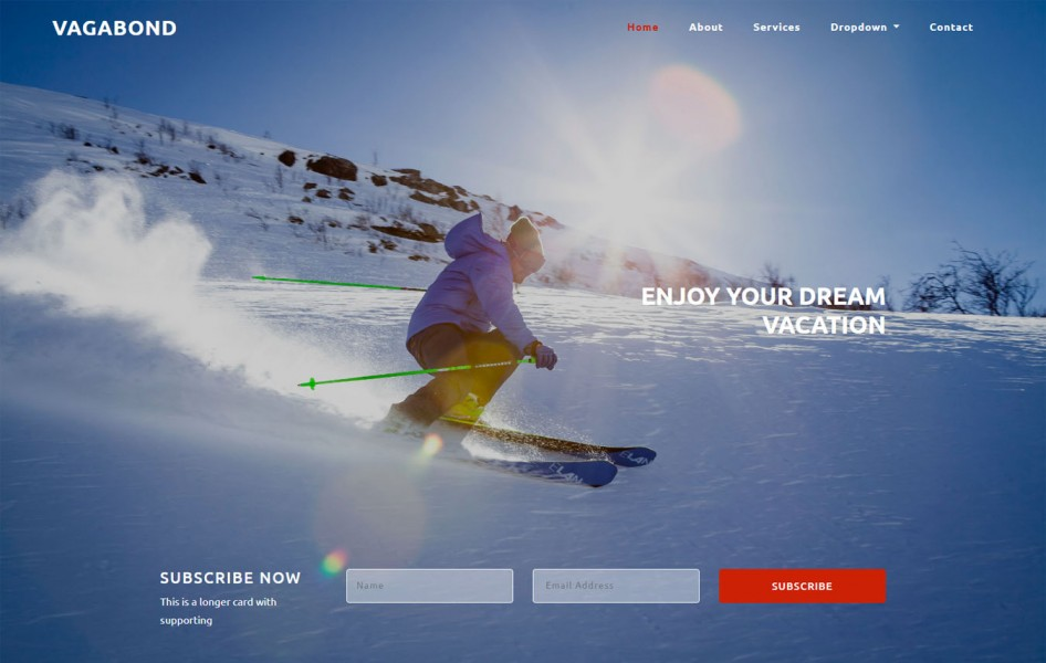 Vagabond a Travel Category Bootstrap Responsive Web Template