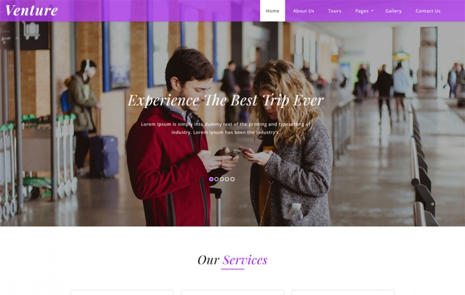 Venture Travel Category Bootstrap Responsive Web Template