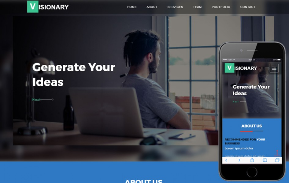 Visionary a Corporate Category Flat Bootstrap Responsive Web Template
