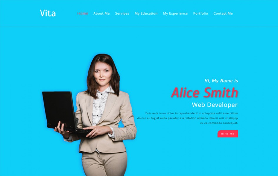 Vita a Personal Category Bootstrap Responsive Web Template