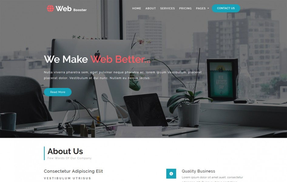 Web Booster Corporate Category Bootstrap Responsive Web Template