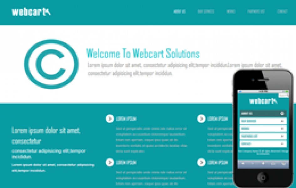 Webcart Web and Mobile Template for Free