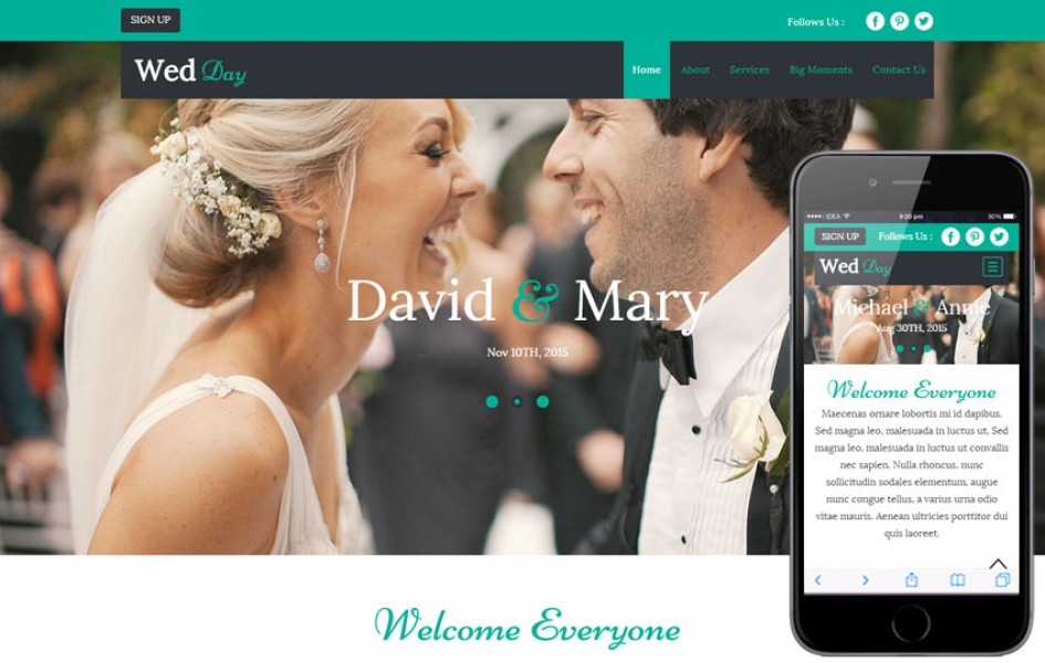 Wed Day a Wedding Planner Flat Bootstrap Responsive Web Template