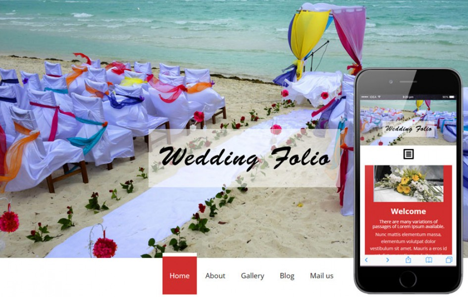 Wedding folio a Flat Wedding Planner Bootstrap Responsive Web Template