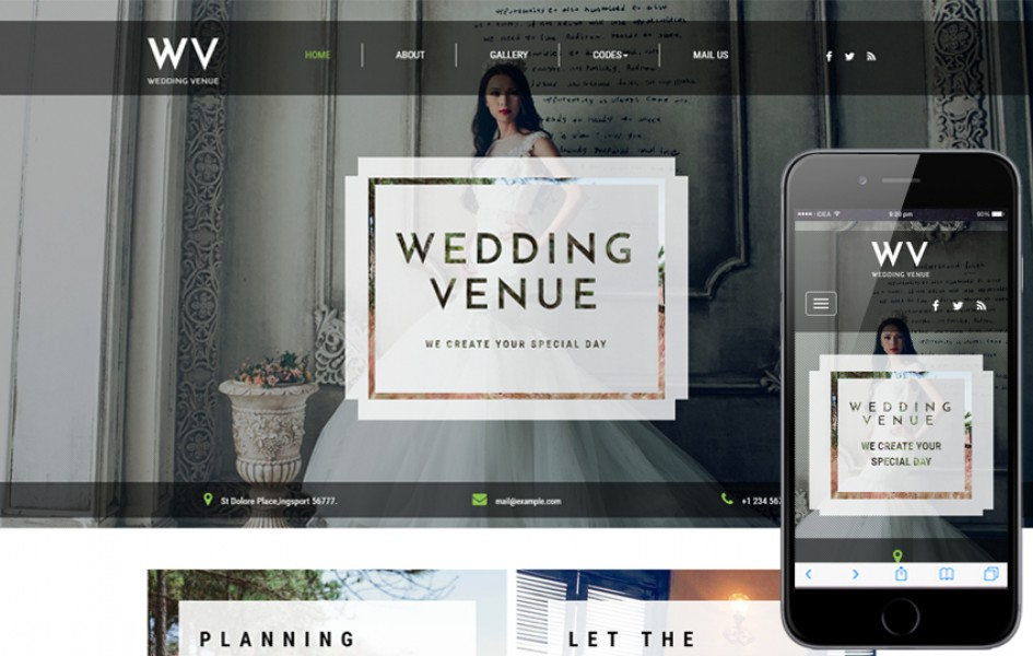 Wedding Venue a Wedding Category Bootstrap Responsive Web Template