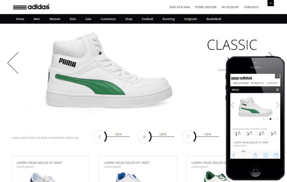 Whity, a Clean, Flat E-commerce Responsive Web Template