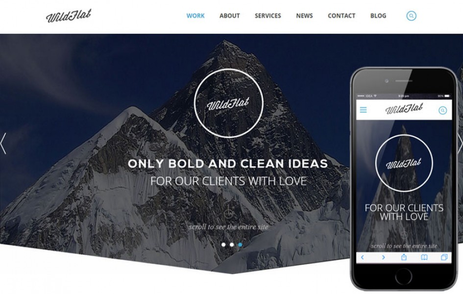 WildFlat a Corporate Flat Responsive Web Template