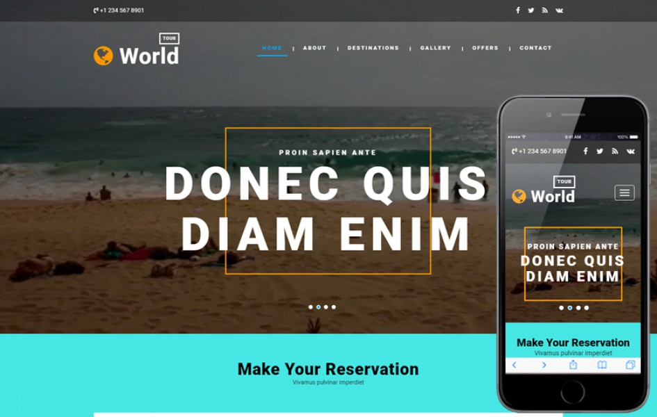 World Tour a Travel Category Bootstrap Responsive Web Template