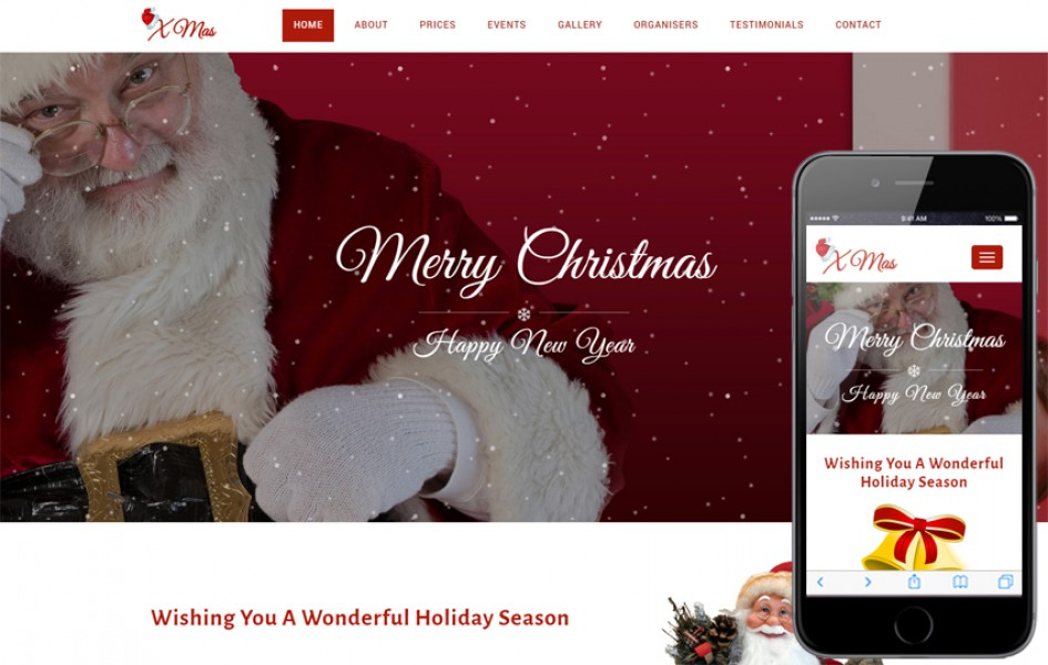 Xmas an Entertainment Category Bootstrap Responsive Web Template