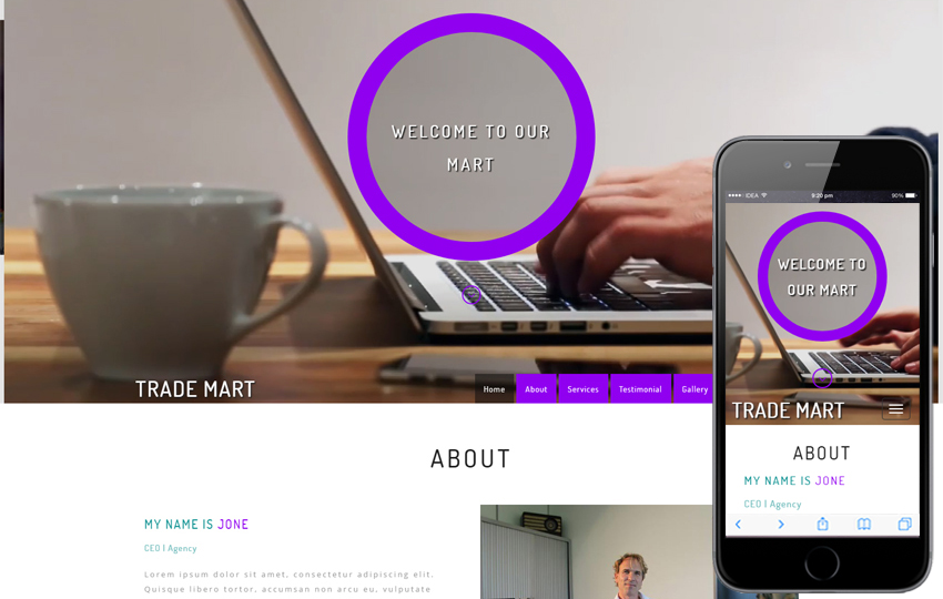 Trade Mart a Corporate Category Bootstrap Responsive Web Template